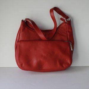 Gianni Bernini Red Leather Shoulder Bag